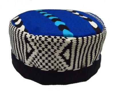 A unique pill box hat in a quality fabric from Abidjan with a bold design and colour. No lining in the crown and a full black inner which makes this hat fully reversible. A pill box hat that you will not want to part with – ideal for summer holidays or to brighten a dull day!