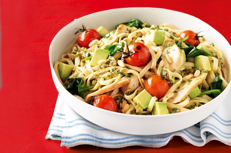 Take green avocados from salads to mains in this chicken pesto pasta classic.