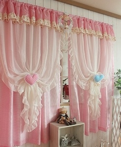 $43.77 Stock Korea curtains purchasing imported white Shalian princess pink living room bedroom k368-p
