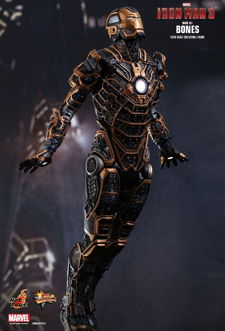 Hot Toys : Iron Man 3 - Bones (Mark XLI) 1/6th scale Collectible Figure