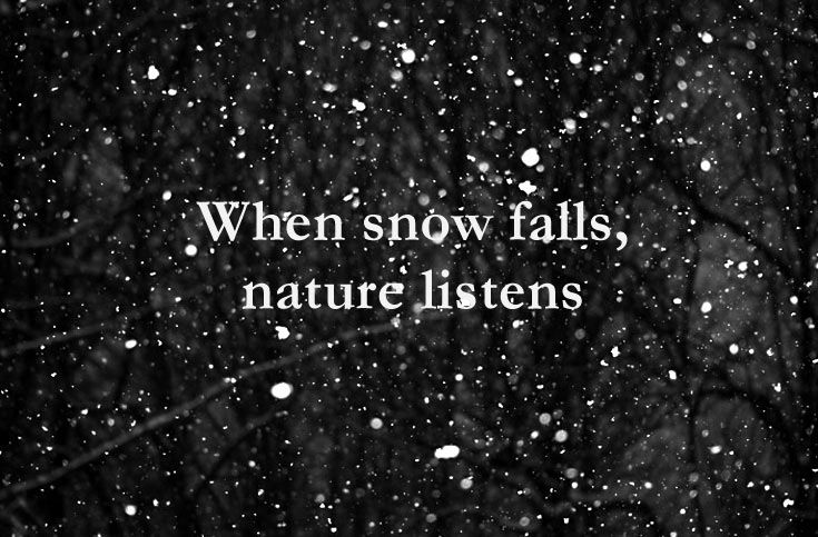 16 short quotes about snow