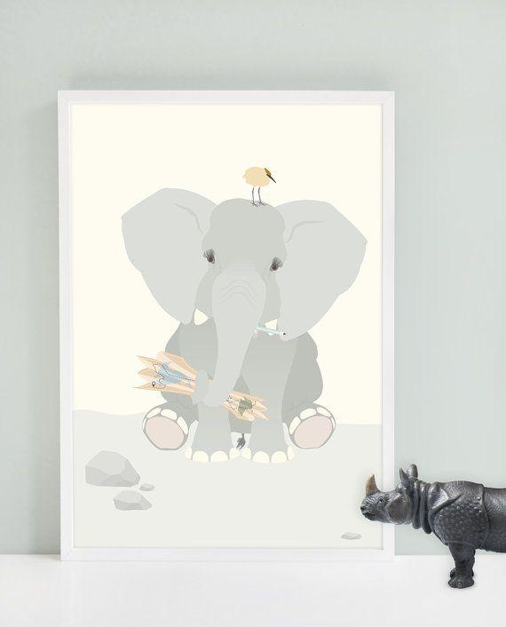 Poster elephant 'Nala' | norsuStories.nl #olifant #elephant #illustratie #poster #norsustories
