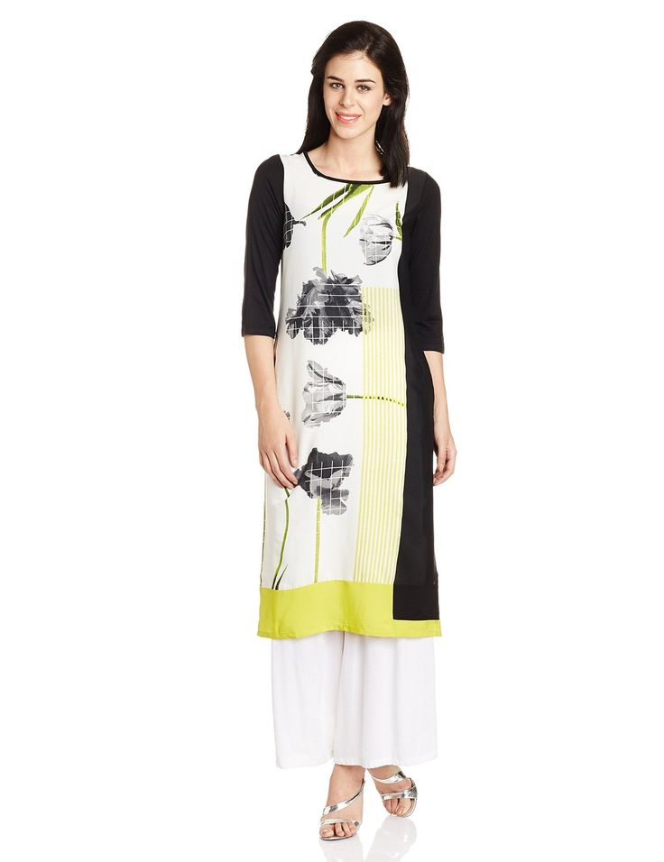 Ladies, Mens and Kids Fashion at Best Price: Rs. 1299 W Straight Multicolor Kurta