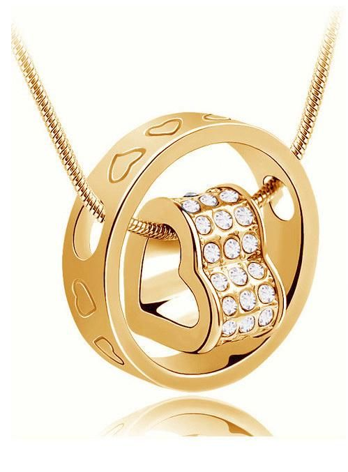 76eacb20b4bc0 tiger totem Free Shipping promotion top quality Czech rhinestones girl hot  popular round Heart pendant Necklace fashion jewelry