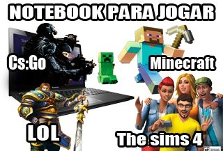 O Notebook mais indicado para rodar jogos como Lol (league of legends), The Sims…