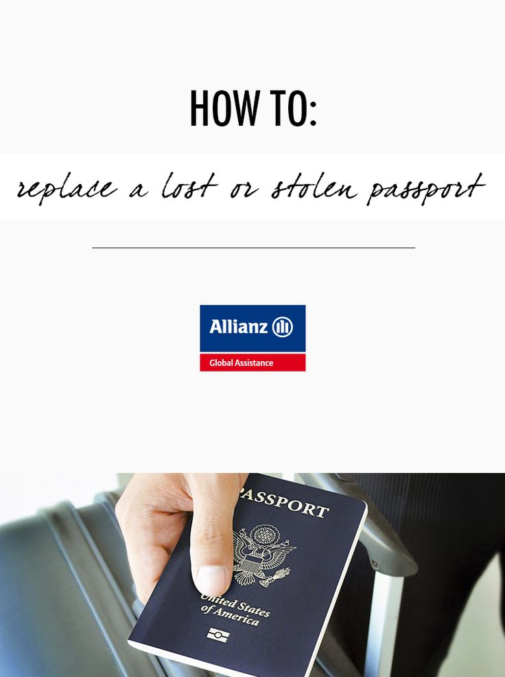 How to replace a lost or stolen passport