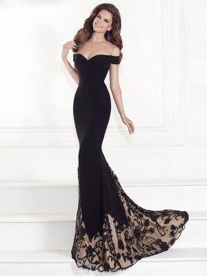 Trumpet/Mermaid Sleeveless Off-the-Shoulder Chiffon Sweep/Brush Train Beading Dresses