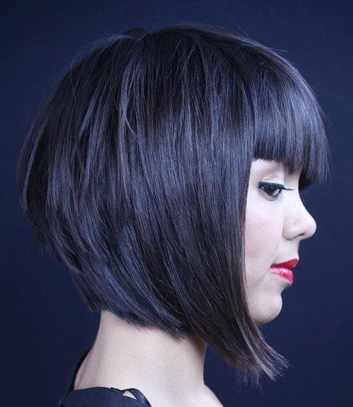Short Layered Bob Hairstyles With Bangs: 25+ Best Ideas About Layered Bob Bangs On Pinterest