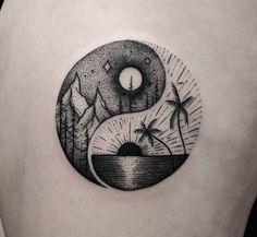 Yin-Yang Summer & Winter Balance Symbol   Tattoo Ideas