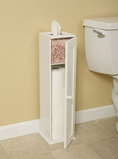 Wondering where and how you can store a small mountain of toilet paper rolls?