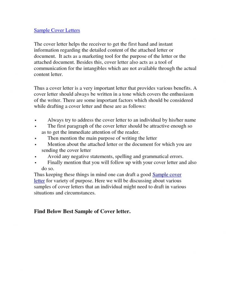 95 best cover letters images on pinterest for Sample cover letter to send documents