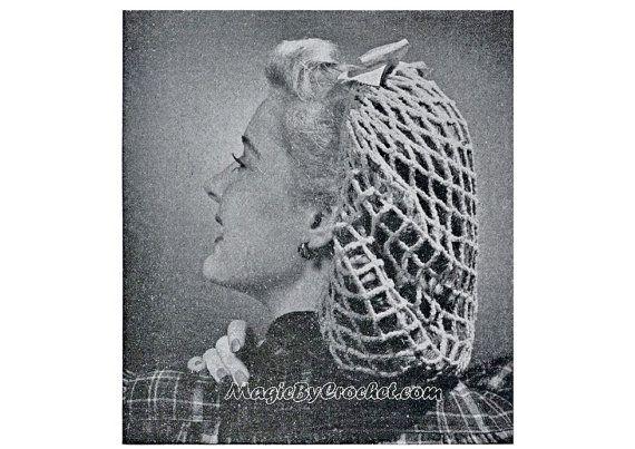 Vintage Crochet Pattern  Snood pattern  Instant