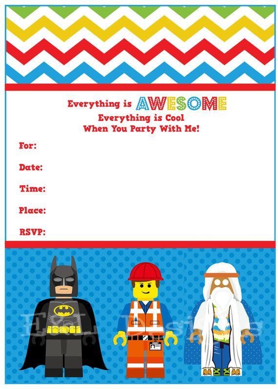24 best Lego Birthday Party images – Lego Birthday Invitations Free