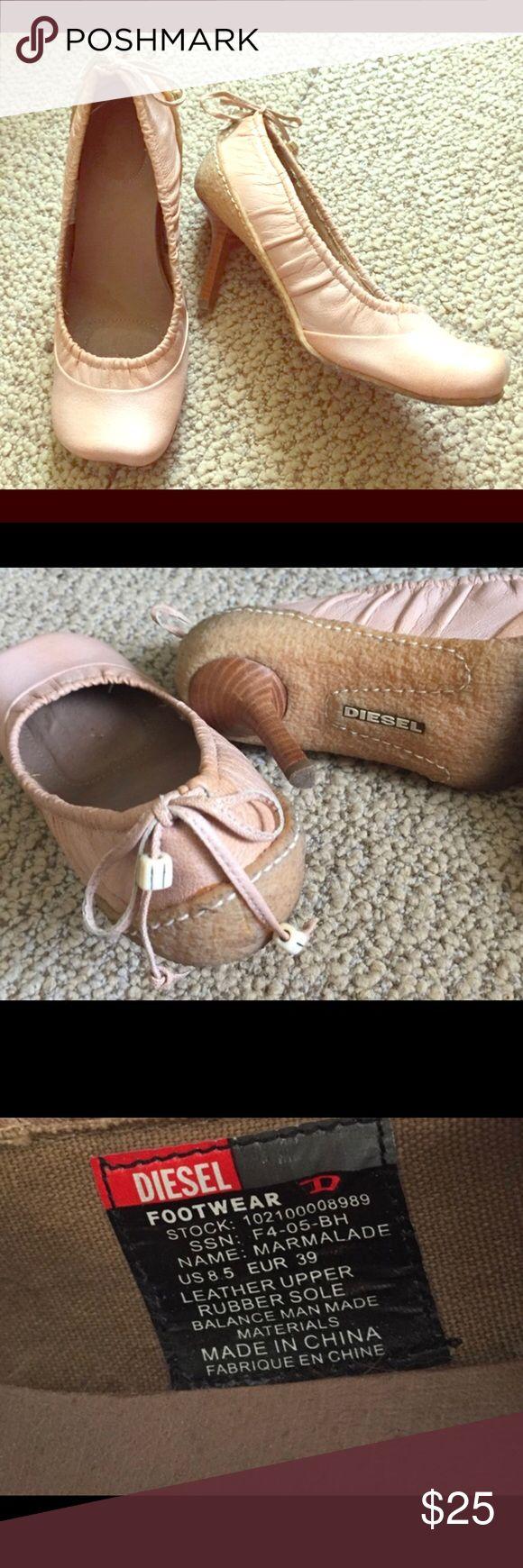 Diesel Heels Pink tones Diesel Pumps/heels super cute and comfy ! Diesel Shoes Heels