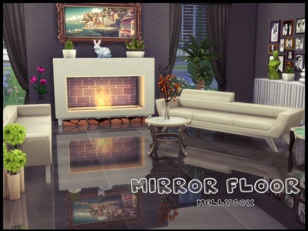 Mirror Floor By Melly20x Sims House Sims 4 Cc Furniture
