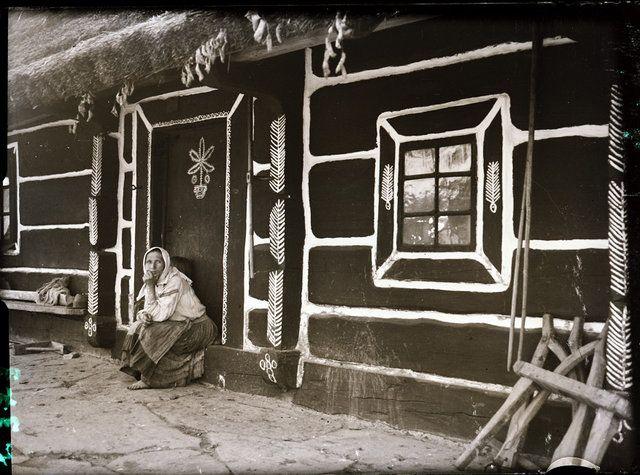 Malowane chaty, Solinka, pow. Lesko, czerwiec 1937.