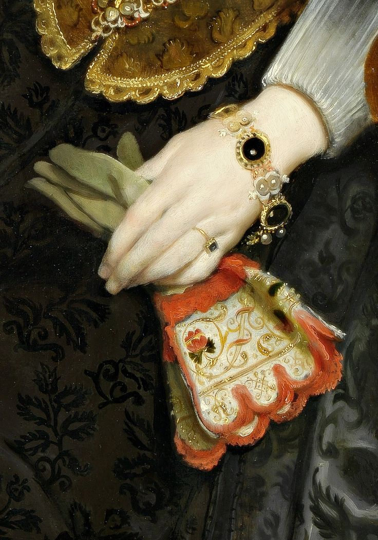 """ Mother and child, (Jewelry Details) by Cornelis de Vos (1584-1651) """