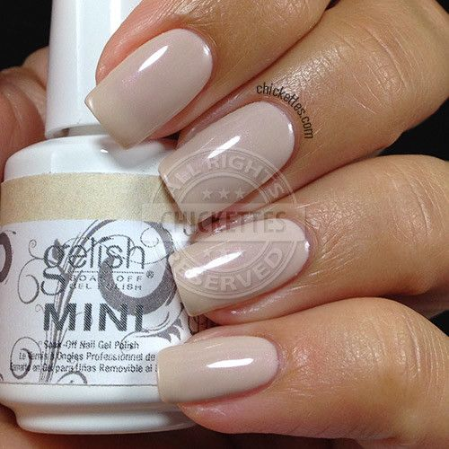 Gelish Do I Look Buff swatch by Chickettes.com - Falls in between Need A Tan and Skinny Vanilla Latte on the color scale.