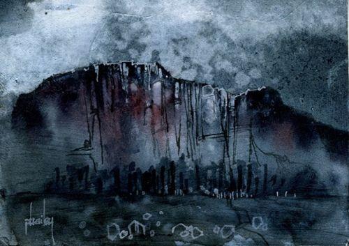 Dark crags