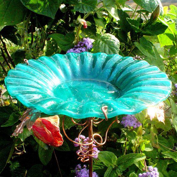 25 best ideas about Glass Bird Bath on Pinterest Garden