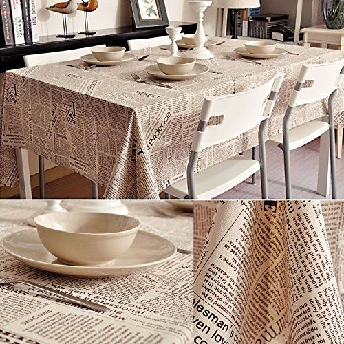 $31.65 Colombia Wallpapers Style Cotton Linen Table Cloth, Durable, Washable, Dinner, Party & Outdoor Picnic Tablecloth Table Cover