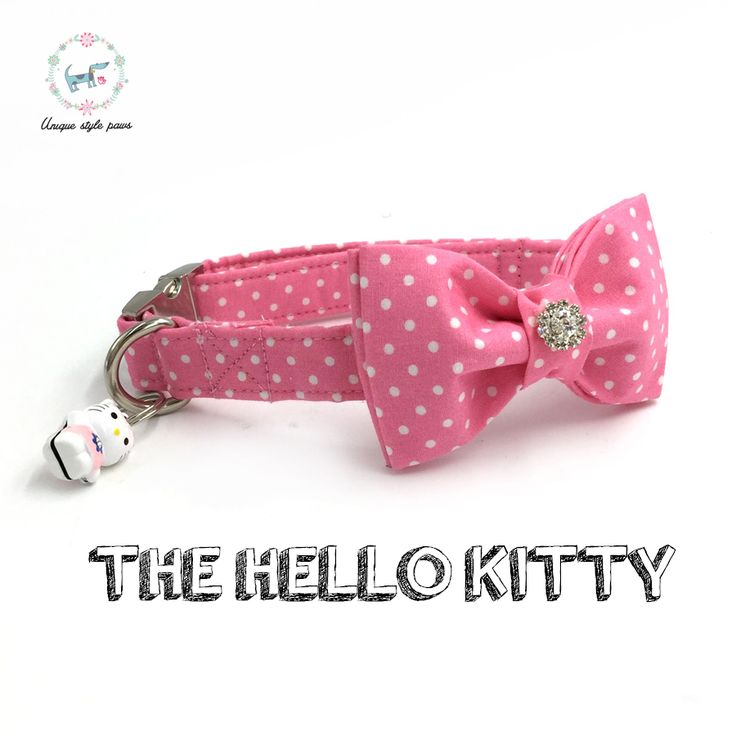 the pink dot  dog collar with bow tie and bell personal custom pet pupply designer product dog &cat necklace XS-XL // FREE Shipping //     Buy one here---> https://thepetscastle.com/the-pink-dot-dog-collar-with-bow-tie-and-bell-personal-custom-pet-pupply-designer-product-dog-cat-necklace-xs-xl/    #catoftheday #kittens #ilovemycat #lovedogs #pup