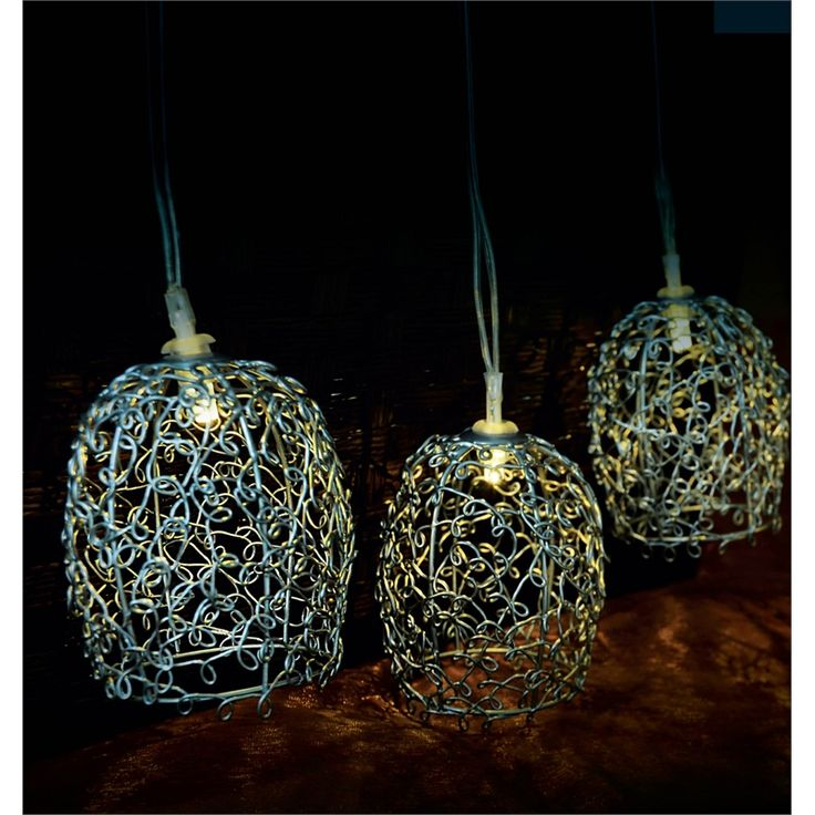 Eden Silver Bell Solar Powered String Light