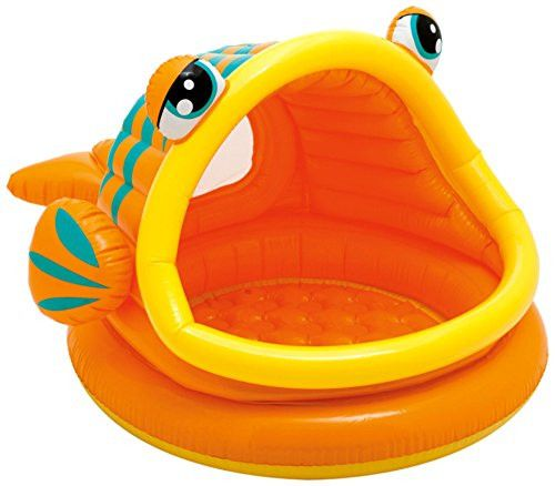 "Intex Lazy Fish Inflatable Baby Pool, 49"" X 43"" 28"", for Ages 1 3"
