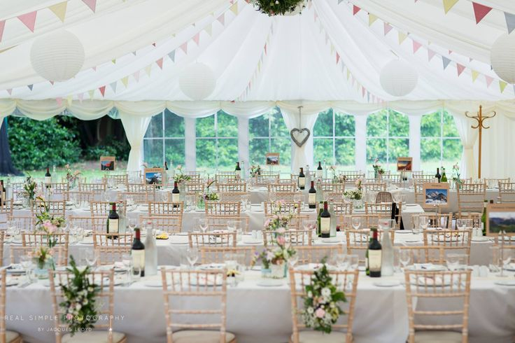 Beautiful  #Hampshire #Wedding #Marquee with #Bamboo #Chairs from @JongorHireHD #summerwedding #marqueewedding