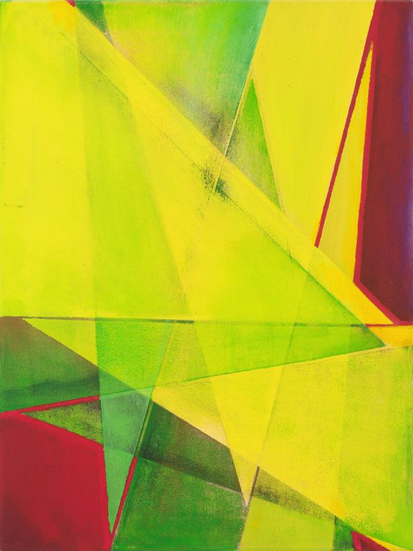 "Sam Jungkurth has been a professional New York artist for four decades, exhibiting in various galleries and cultural institutions. His talent was recognized early on. As a student he was awarded a grant from the Tyler School of Art to spend a year studying in Rome, Italy.  Geometric Abstraction #14, 2014, acrylic on canvas, 24"" x 18"""