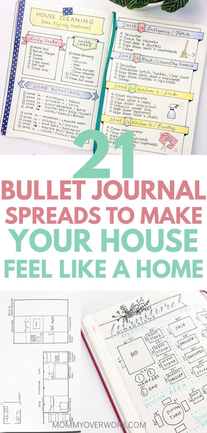21 Cozy Bullet Journal House Cleaning And Maintenance Spreads