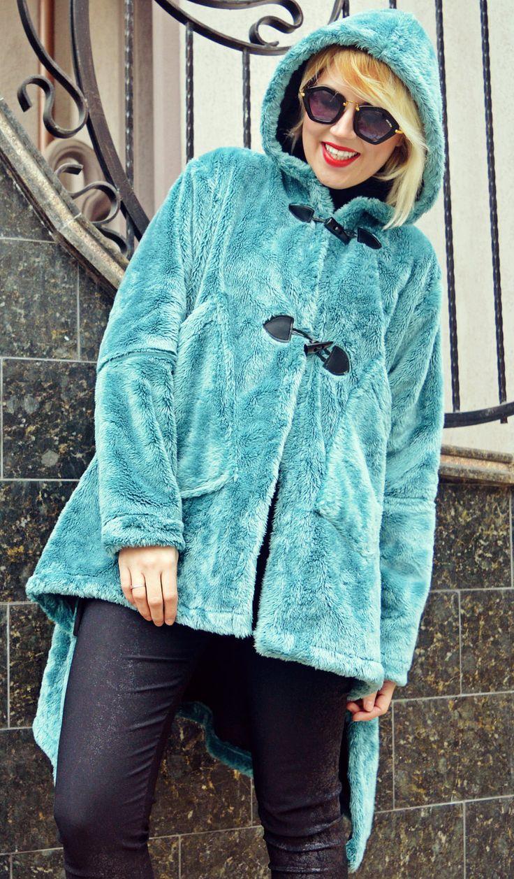 Turquoise Faux Fur Coat / Extravagant Faux Fur Coat / Asymmetrical Winter Coat TC77 https://www.etsy.com/listing/480773786/turquoise-faux-fur-coat-extravagant-faux?utm_campaign=crowdfire&utm_content=crowdfire&utm_medium=social&utm_source=pinterest