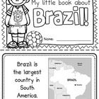 """This+""""All+About+Brazil""""+booklet+can+be+used+for+a+very+basic+country+study+in+lower+elementary+grades!  Just+print+out+the+pages,+have+kids+cut+alo..."""