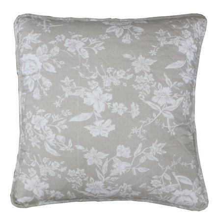 BIGGIE BEST Linen Floral 45x45cm Cushion, Linen