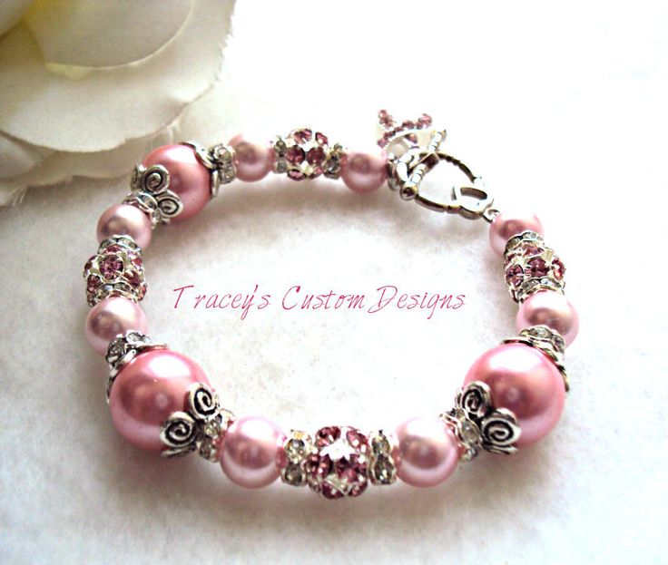 Stunning Breast Cancer Awareness Bracelet  by TraceysCustomDesigns, $34.99