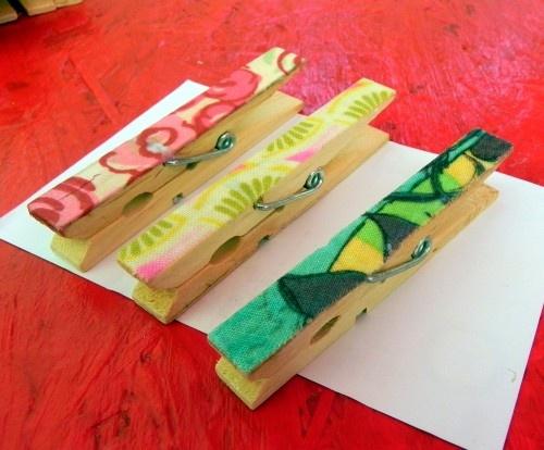 Painted #clothespins