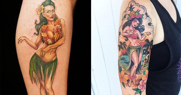 20 Iconic Hula Girl Tattoos