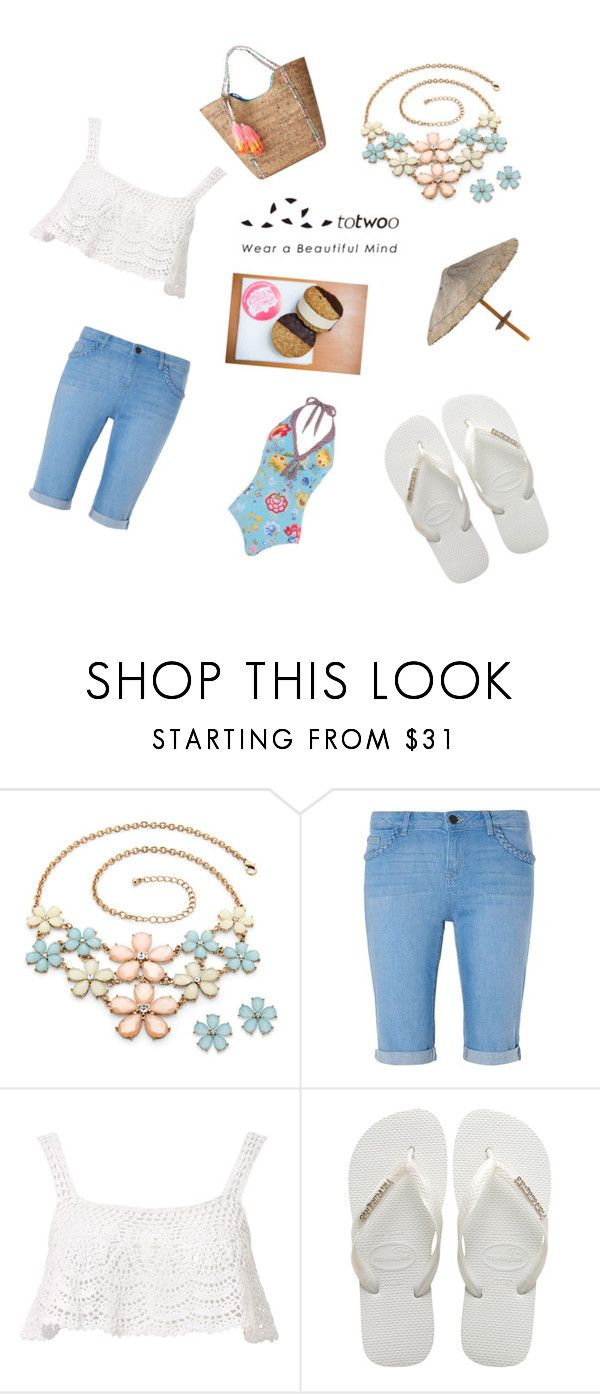 """""""Beach"""" by stephen-james-lover ❤ liked on Polyvore featuring Dorothy Perkins, Beauty & The Beach, Havaianas and Lilly Pulitzer"""