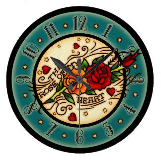 Vintage Clock Tattoo Designs