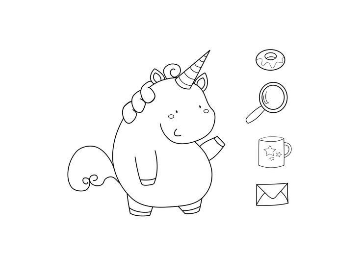 Useless_Trinkets_Freebie Keksdose das Einhorn - cookie jar the unicorn digi stamp by Jessa Feig