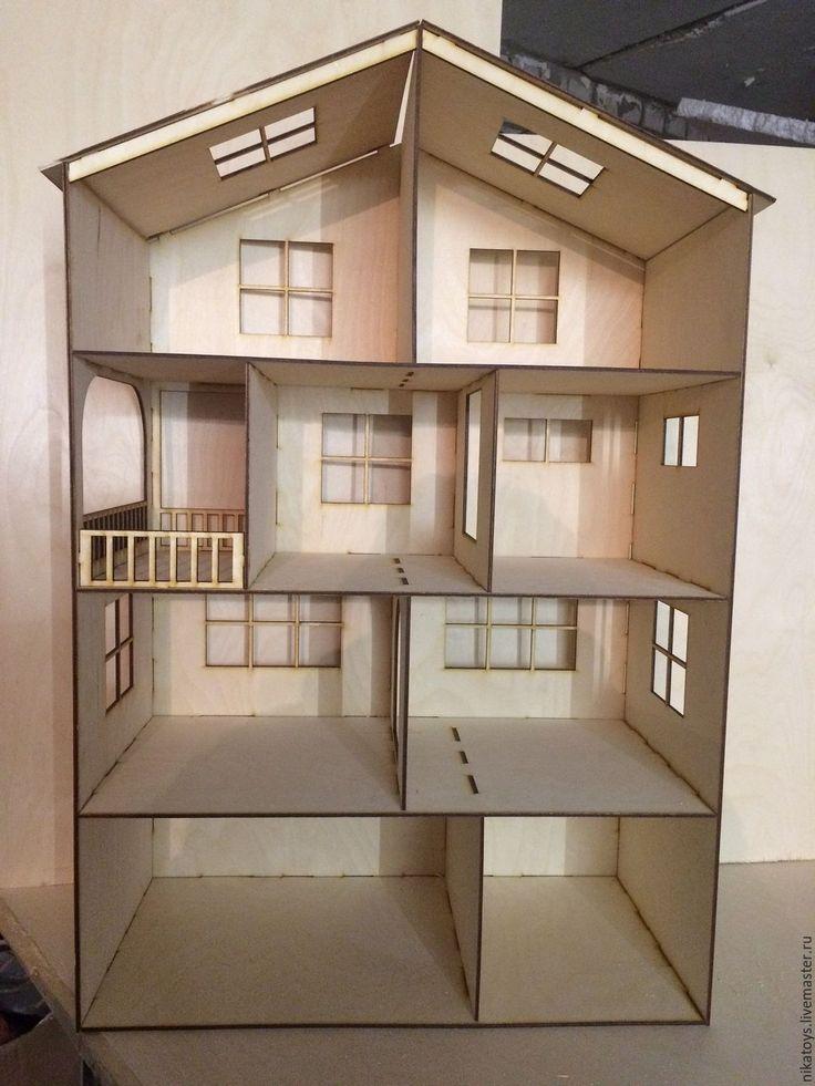 Купить Домик для кукол 90x60x30 (фанера 6мм). - кукольный дом, кукольный домик, кукольная мебель
