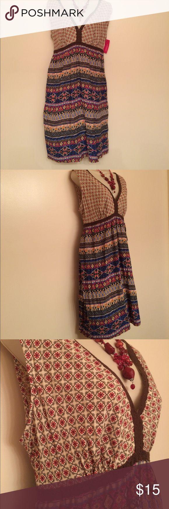 Junior's summer dress. NWT Junior's summer dress. Beautiful, multicolored. Xhilaration brand. Xhilaration Dresses Midi