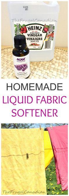 Homemade Laundry Liquid Fabric Softener, DIY Recipe – Lemon Or Lavender Scent This is a wonderful fabric softener recipe if you want to save money when doing your laundry or if you want to cu…
