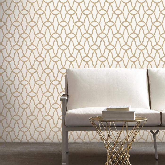 Roommates Trellis Peel Stick Wallpaper Gold Peel And Stick Wallpaper Removable Wallpaper Home Decor