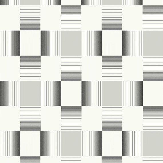 W2WUK / Wallpaper / Wallcoverings / Tiles / Tile Effects / Kitchen / Bathroom / Decorating / Tiling on a Roll / Holden Decor / British design / Hikari / Matrix / Grey / White / Cream / Black / Blown Vinyl / Textured Vinyl / Geometric