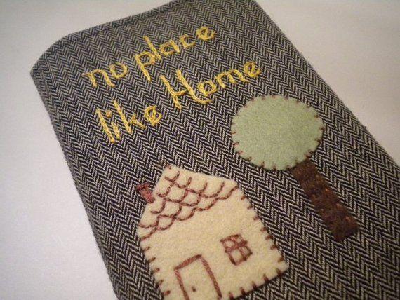 Home Sweet Home Passport Cover with Felt by destinationhandmade
