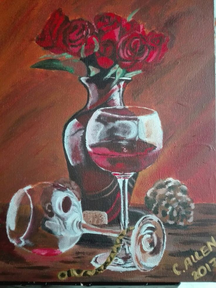Selling this wine still life  for R 500.00