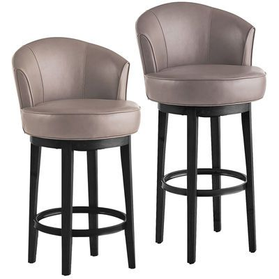 Let's face it: Bar stools that can spin around in circles are way cooler than those that can't—especially ones as comfy as our Art Deco-inspired Isaac stools. With 360 degrees of pure turning power, you can survey all comers from the cushioned perch of your sleek, buttery-soft twirl-mobile.