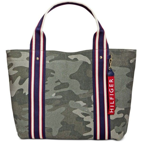 Tommy Hilfiger Camo Medium Tote 71 Liked On Polyvore Featuring Bags Handbags Tote Bags Green Camo Tote Medium Tote Camouflage Purse Accesorios Bolsos