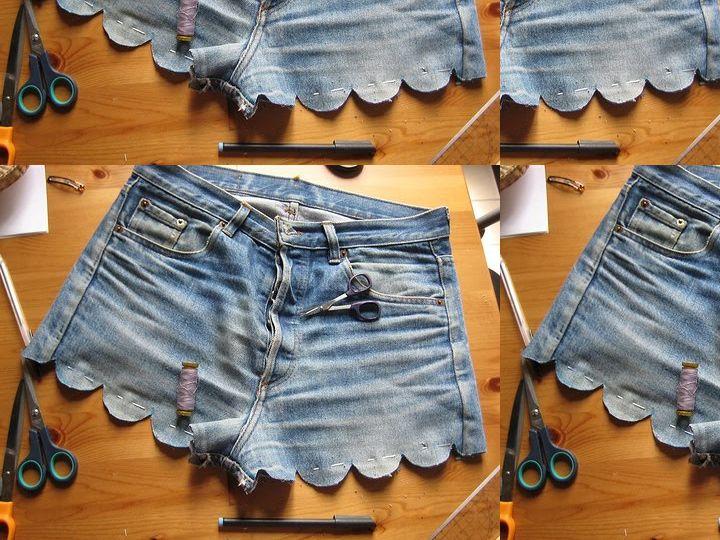 Scalloped cut-offs. Denim version by A Pair & a Spare (http://apair-andaspare.blogspot.com/2011/09/diy-scalloped-denim-shorts.html).